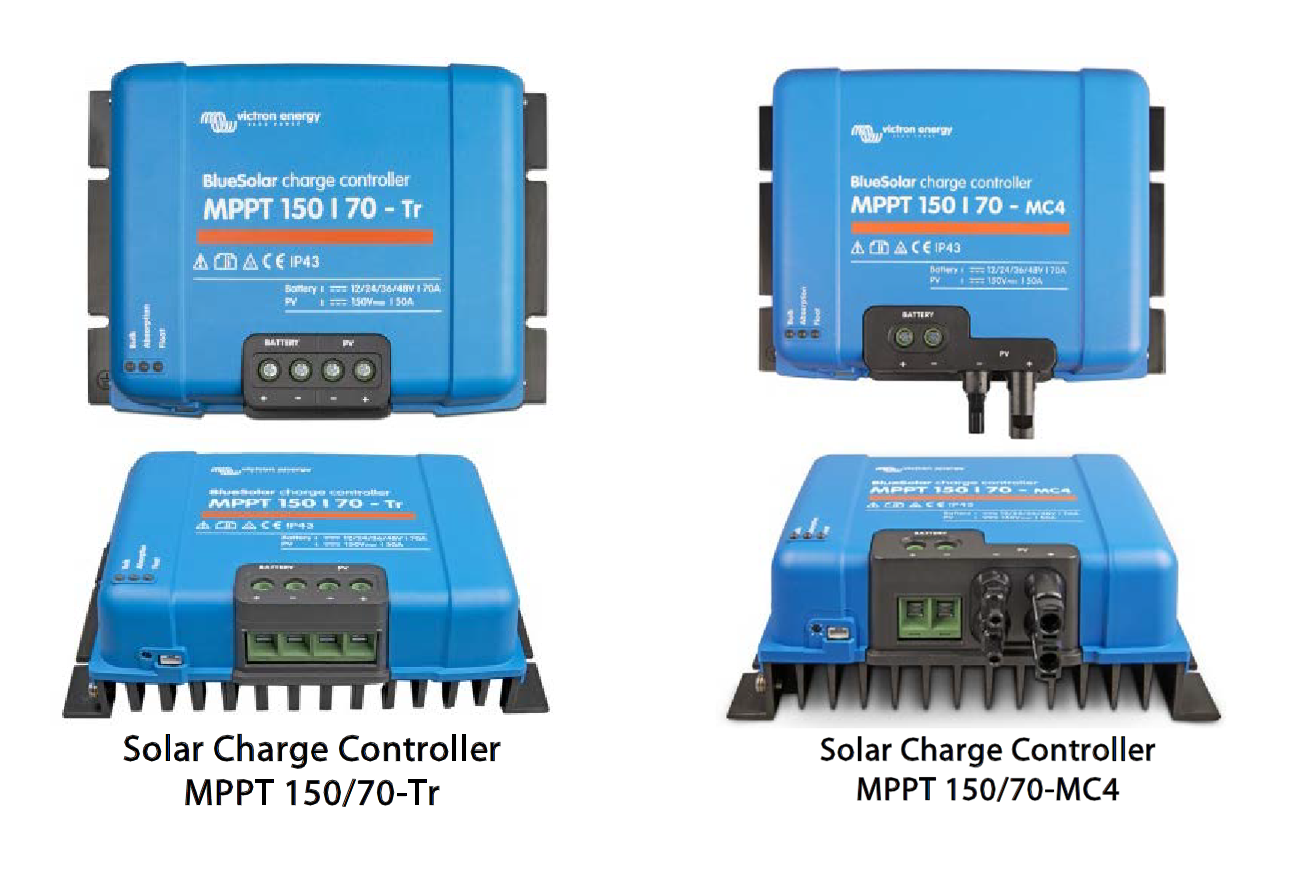 Solar Charge Controller Bluesolar Mppt 150 45 Up To 100 145v Open Circuit Voltage Technical Illustration