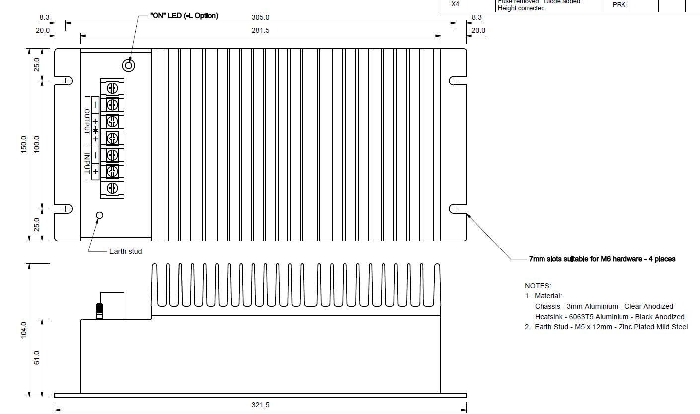 MECHANICAL OUTLINE   PB315-24S-H(L)