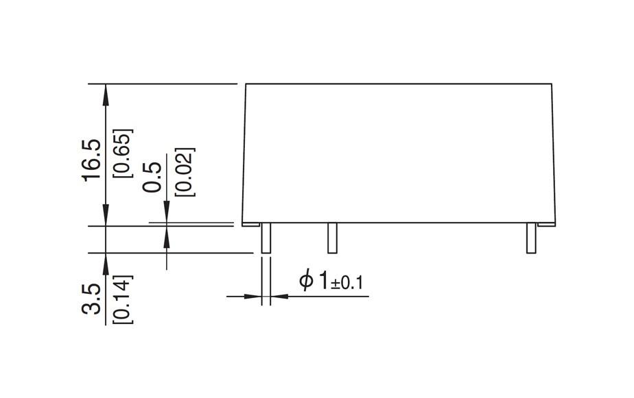 PBB7A-G 25W  Side dimensions