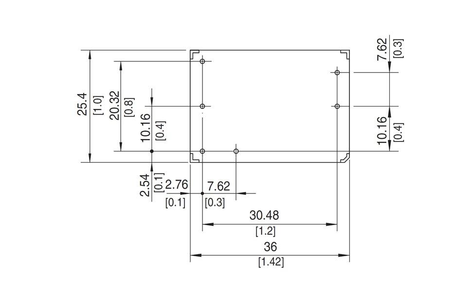 PBB7A-G 25W Dimensions