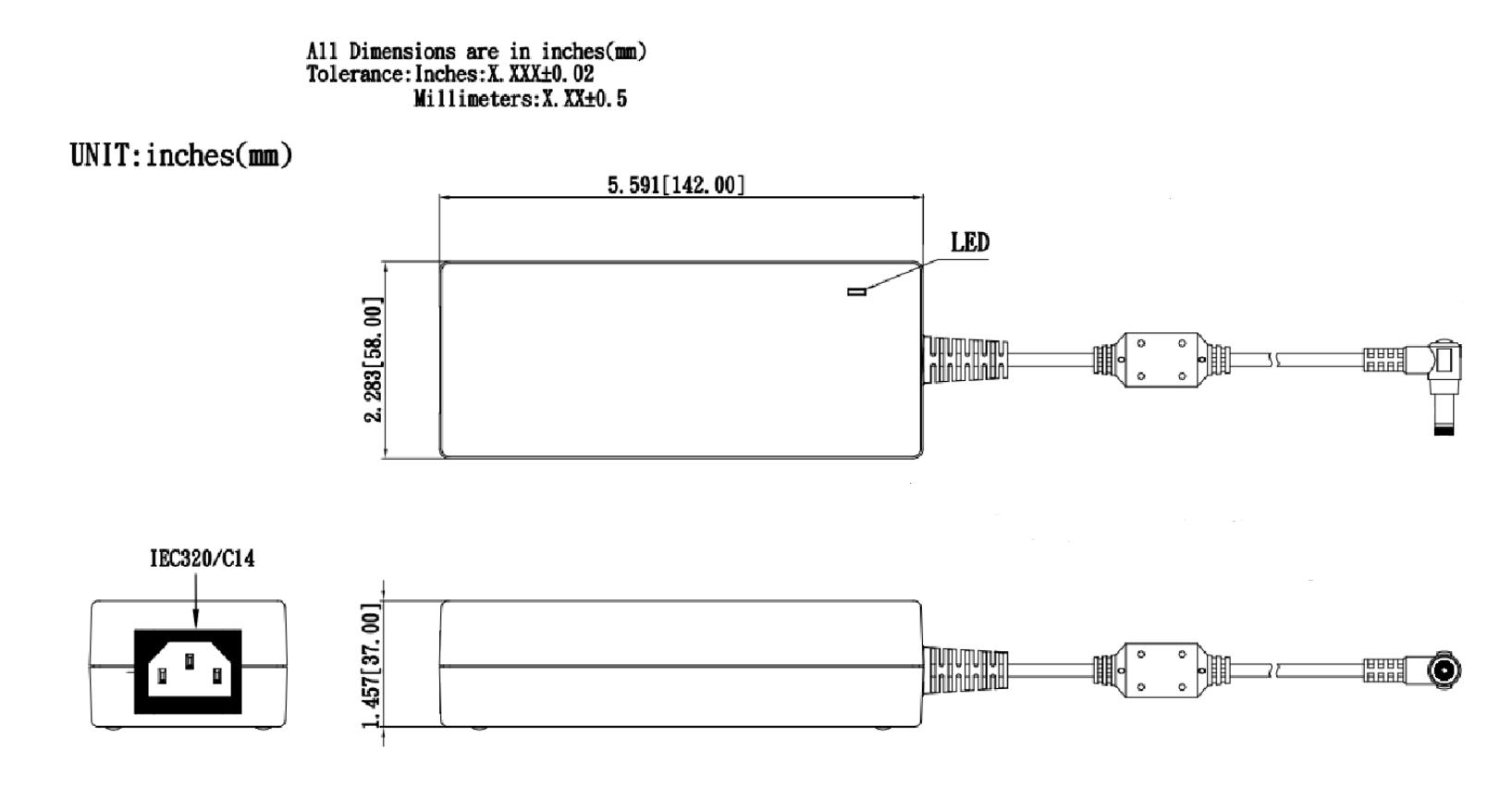 TRH100A  Mechanical Specification