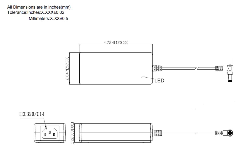 TRH50A  Mechanical Specification